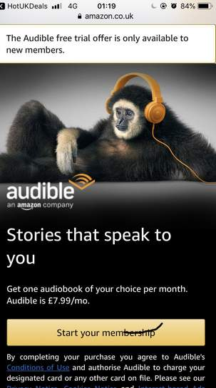 amazon audible uk