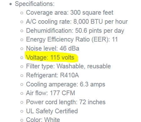 Arlec 5000 BTU Slimline Portable Air Conditioner was £225