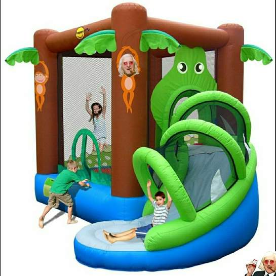 Inflatable Slide Pool Tesco: Action Air Crocodile Airflow Inflatable Bouncy Castle And