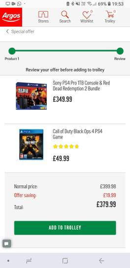 Playstation Pro 1TB with Red Dead Redemption 2 + Call of Duty Black