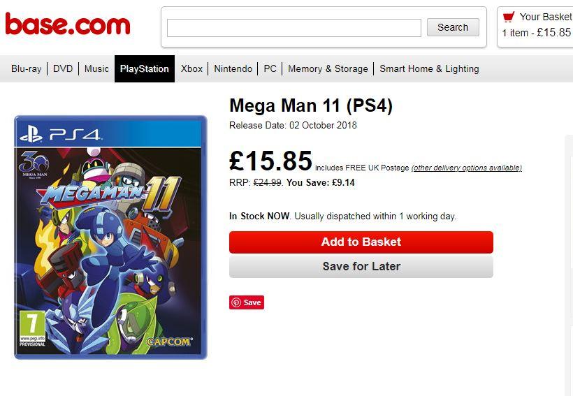 Mega Man 11 (PS4) £13 85 Delivered @ Base - hotukdeals