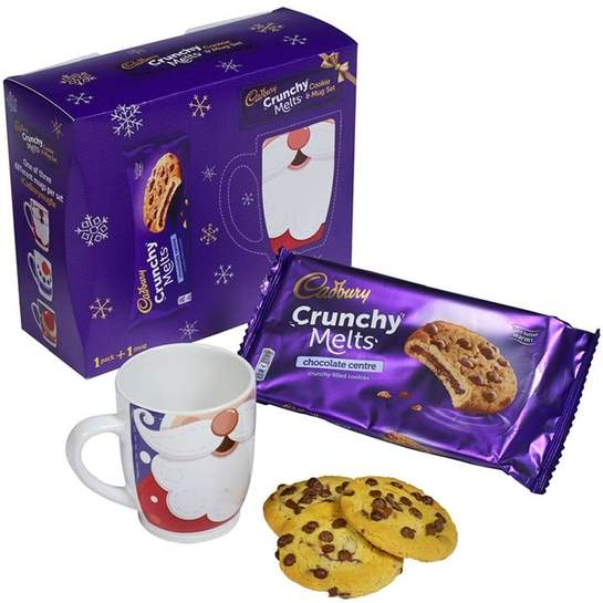 Cadbury Crunchy Melts Biscuits With Santa Mug 3 At Asda