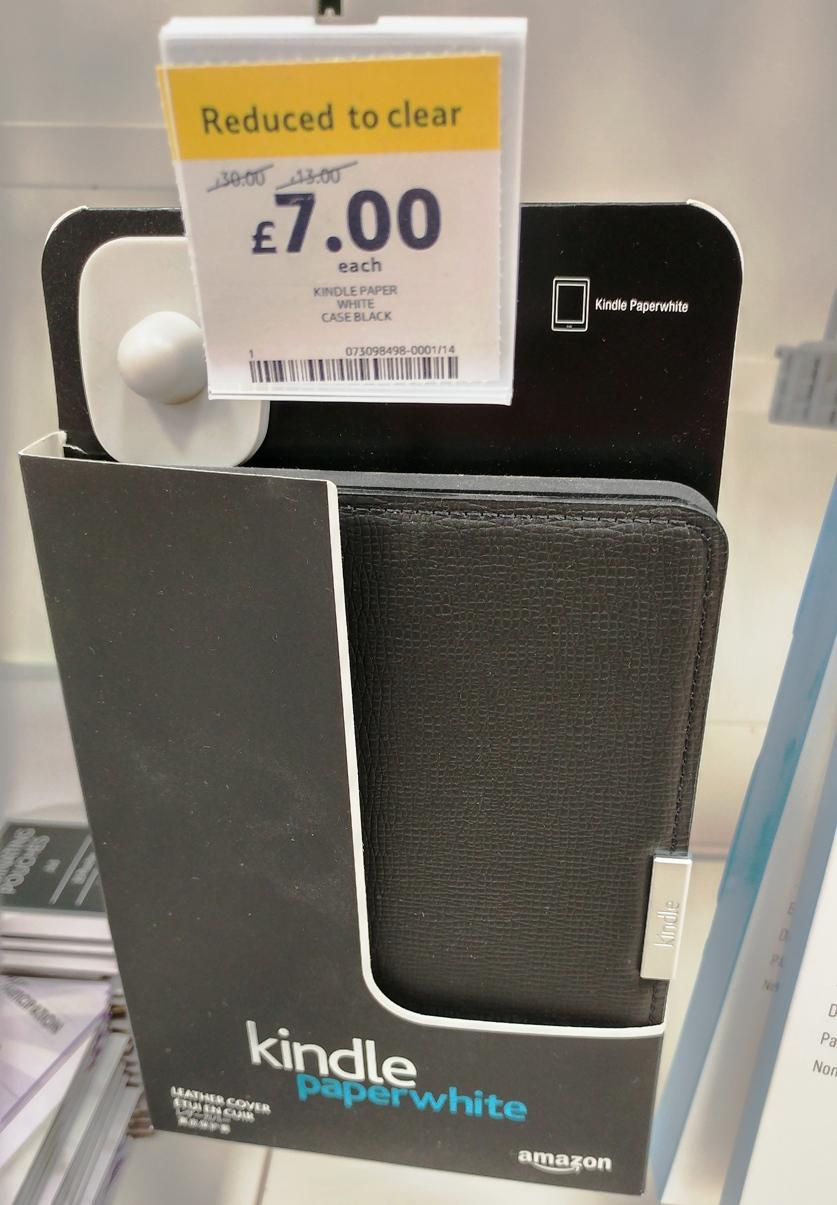 sale retailer dbd06 319cb Genuine Amazon Kindle Paperwhite Leather Cover - **INSTORE** Tesco ...