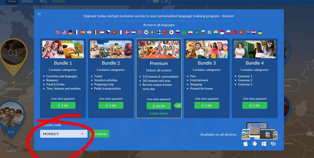 Learn a Language for FREE (can also use app) - Free Premium