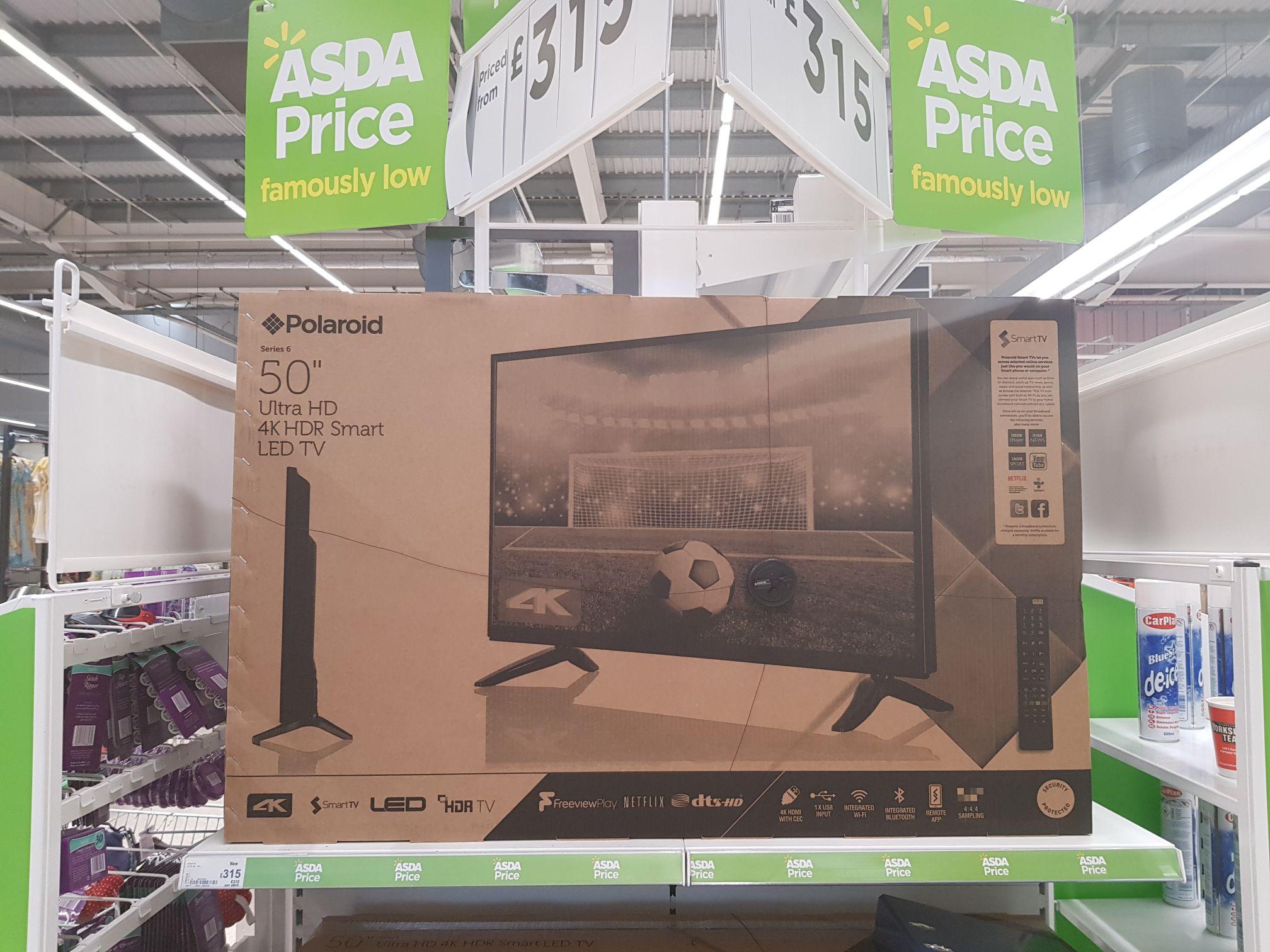 Polaroid 50 inch 4k series 6 TV at Asda £315 - hotukdeals