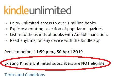 Amazon - Kindle Unlimited Free For Three Months (Then £7 99