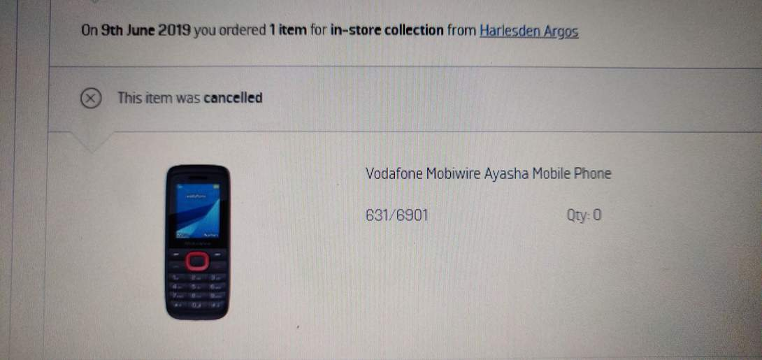 Vodafone Mobiwire Ayasha Mobile Phone now 99p / £10 97 free