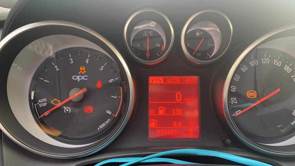 Service ESP' coming up on panel on dashboard on Vauxhall Astra 2012