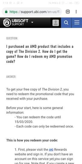 The Division 2 Redeem Code
