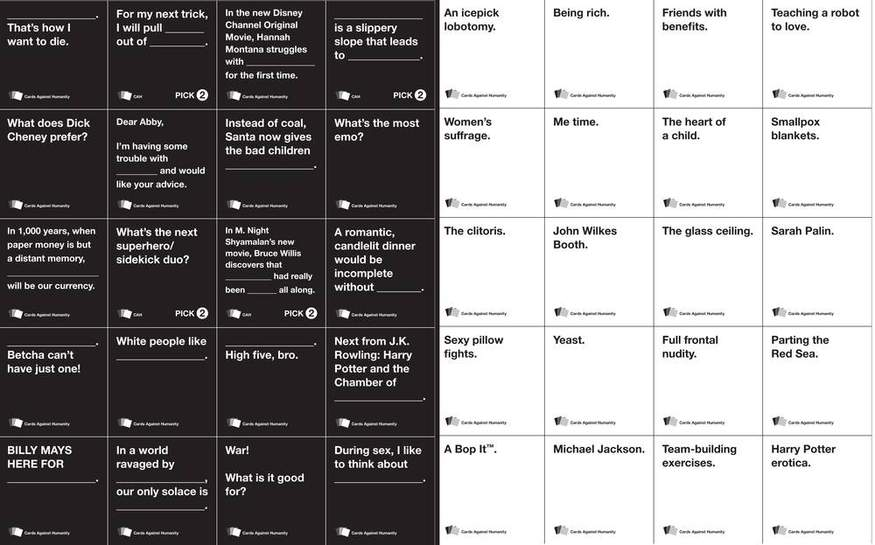 graphic regarding Cards Against Humanity Printable referred to as Playing cards Versus HUMANITY - Free of charge card video game pdf, unbelievably humorous