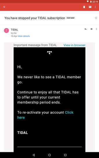 Get 4 months free music subscription to TIDAL @ SweatCoin - hotukdeals