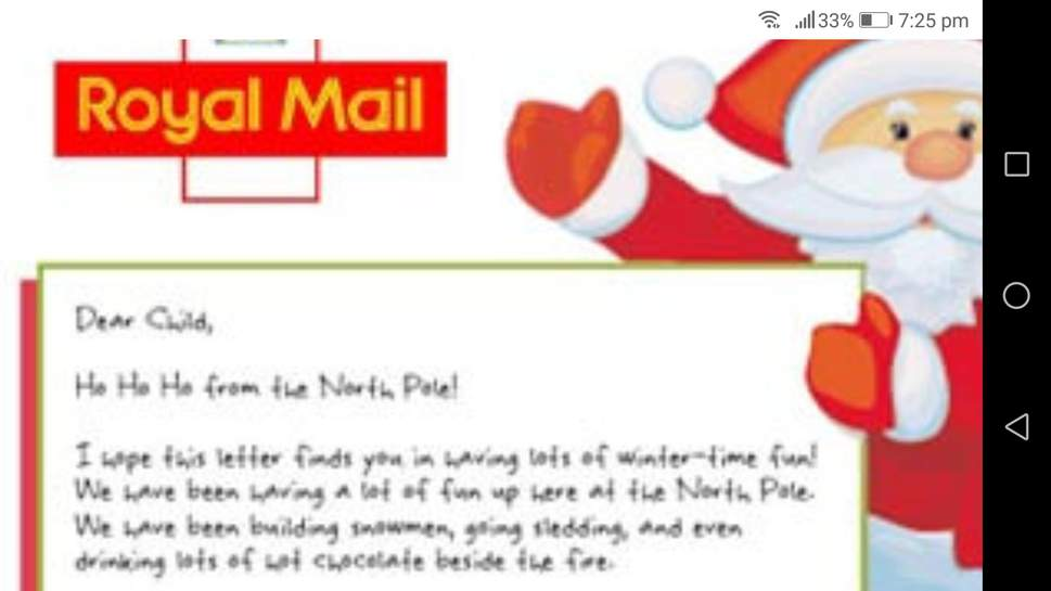 letter to santa royal mail free royal mail reply letter from santa hotukdeals 21072