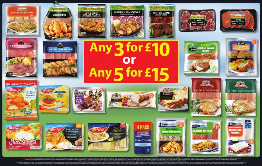 Farmfoods Frozen Meats 1kg Other Foods 3 For 10 Or 5 For 15