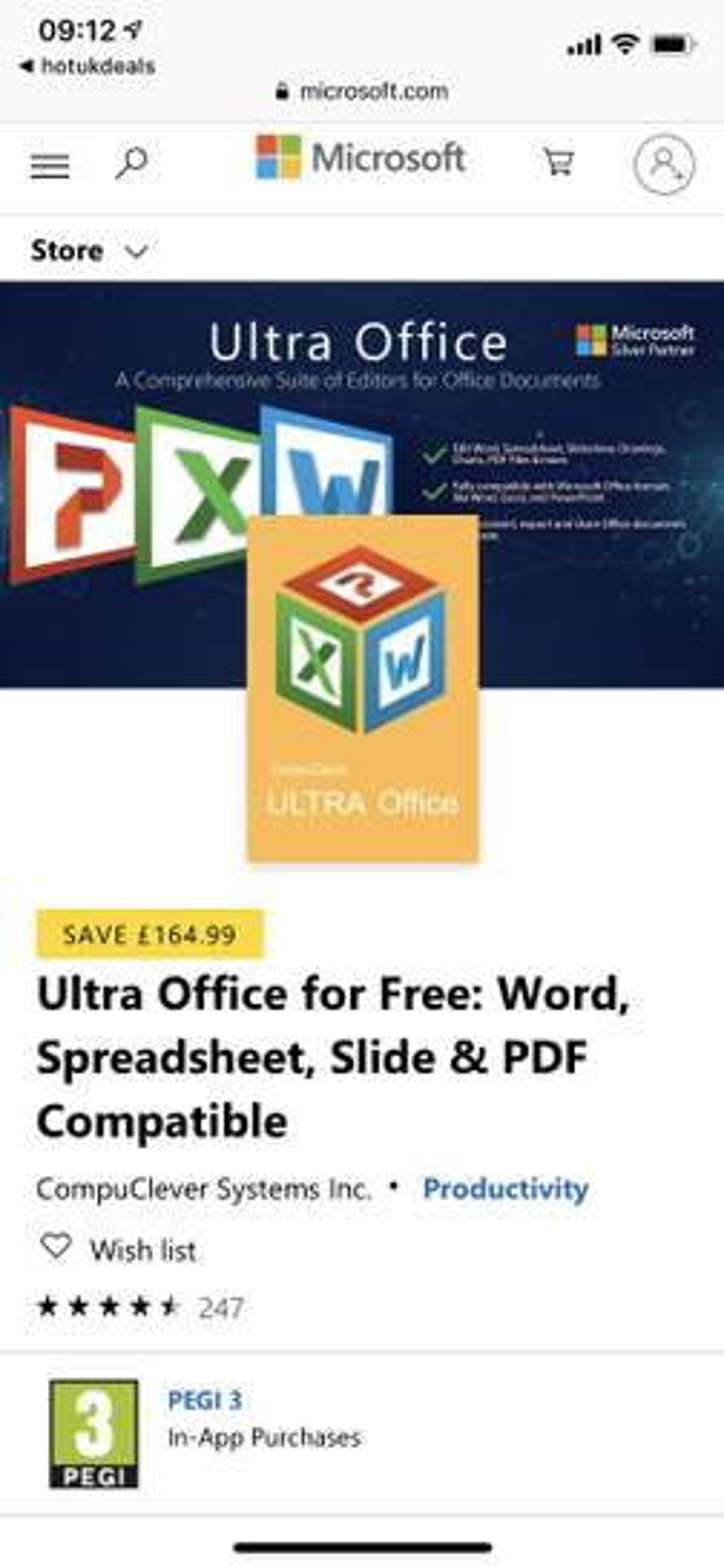 Ultra Office : Word, Spreadsheet, Powerpoint & PDF editor