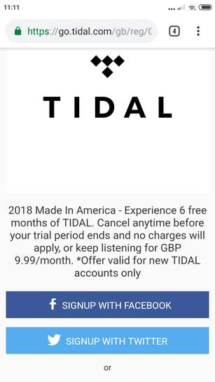 Tidal music streaming free for 6 months - hotukdeals