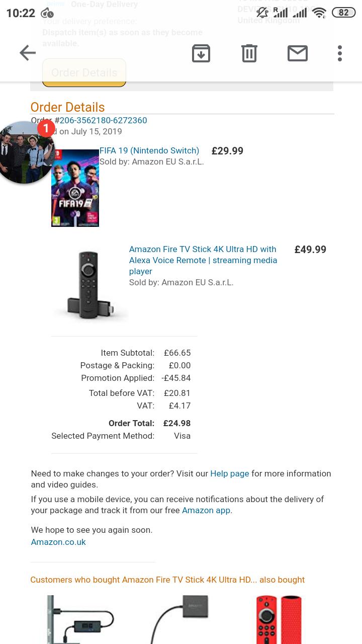 FIFA 19 - Nintendo Switch - Amazon co uk £14 99 (Prime Day Deal