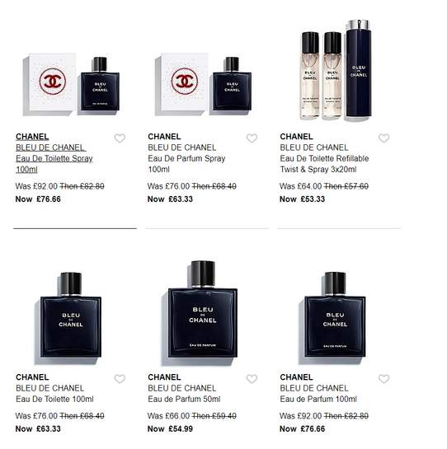 Chanel Bleu De Chanel Edp 100ml Gift Box Set 6333 At Debenhams