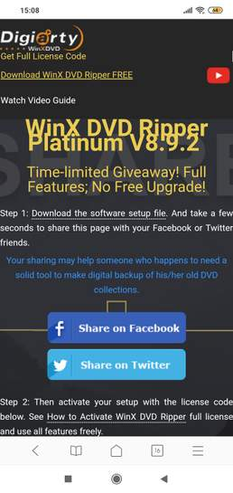 WinX DVD Ripper Platinum V8 9 2, currently free, at Winxdvd