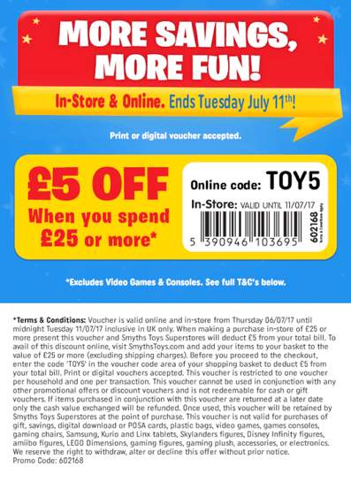 Check out all the latest Smyths Toys Promo Codes and Discount Codes for Remember: Check Groupon First.