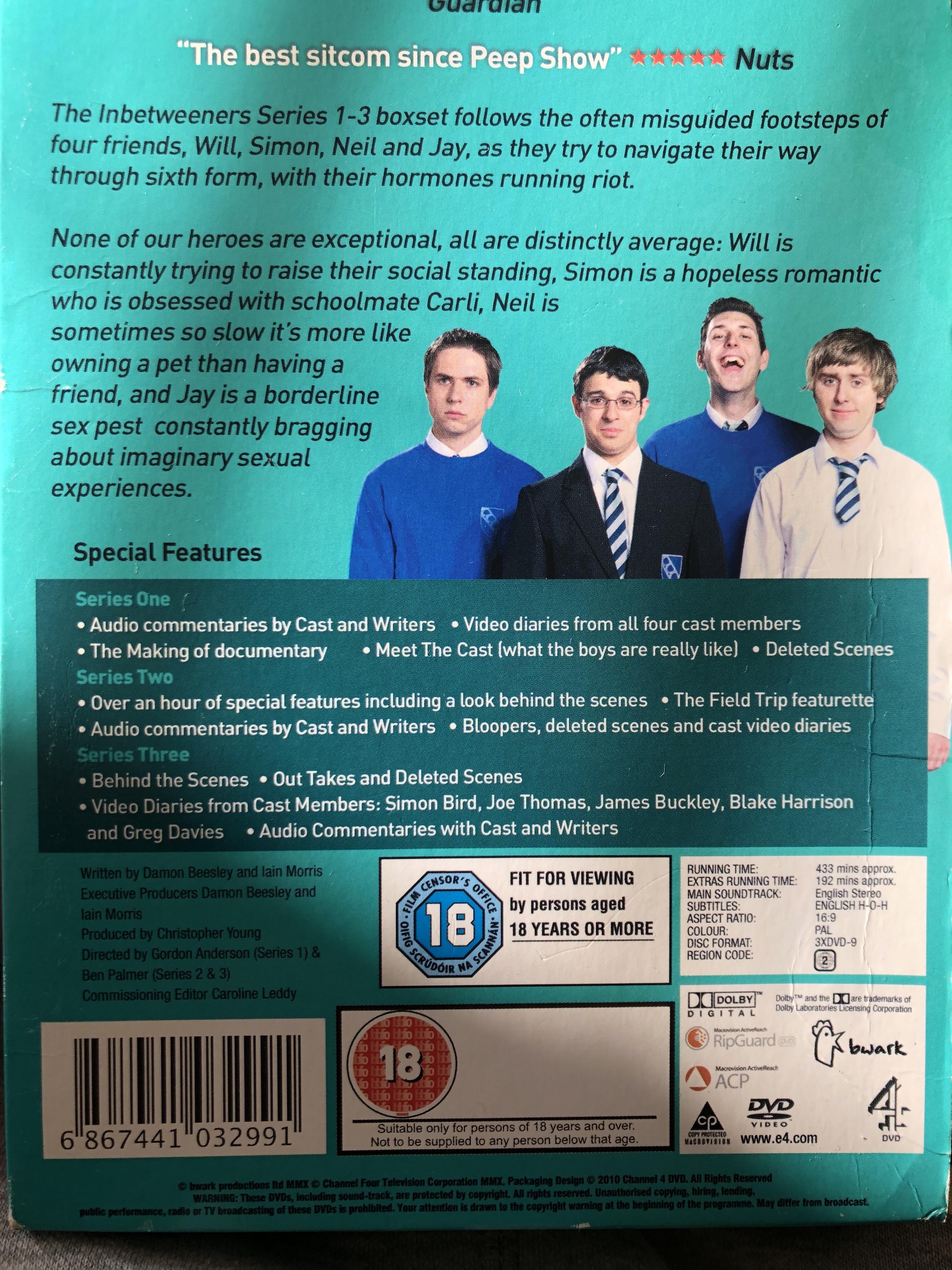 The Inbetweeners Series 1-3 Box Set (DVD) [Pre-owned