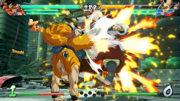 goku does an artistic kick move on another character