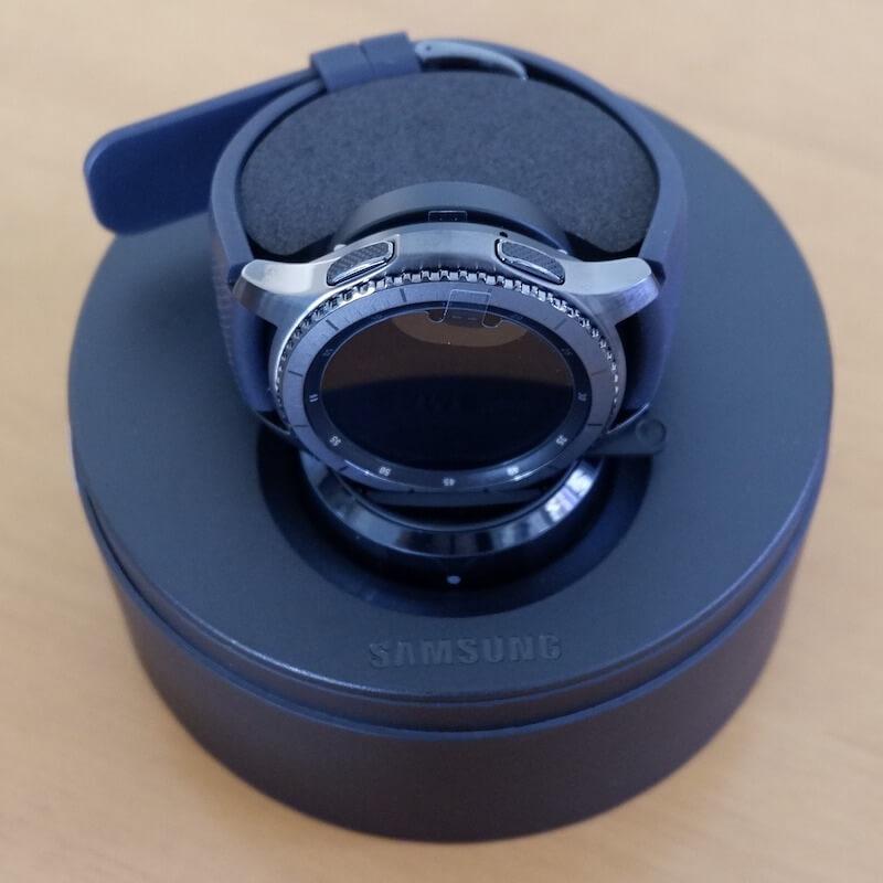 Samsung Galaxy Watch Black on top of box
