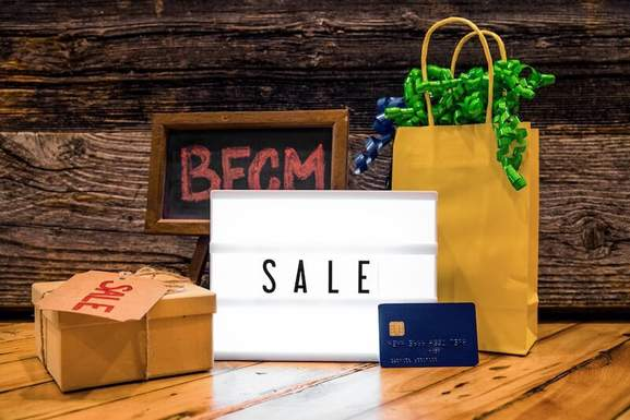 sale signs and tags on #bfcm