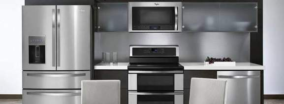 built-in microwave in a stylish kitchen