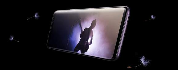samsung galaxy s9 exemplifying the stereo audio speakers