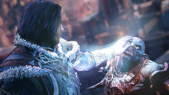 talion uses his power against an orc