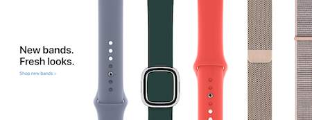 different apple watch bands banner