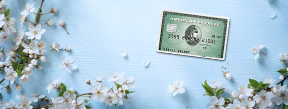 american express card in a spring setting