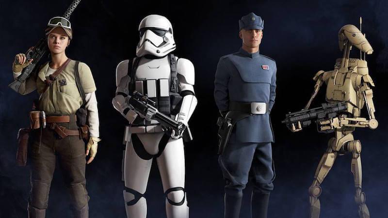 battlefront rebel, stormtrooper, commander and droid