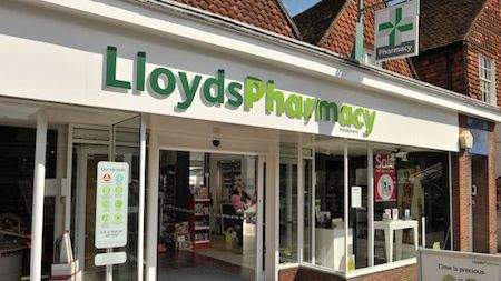 A Lloyds Pharmacy branch from outside