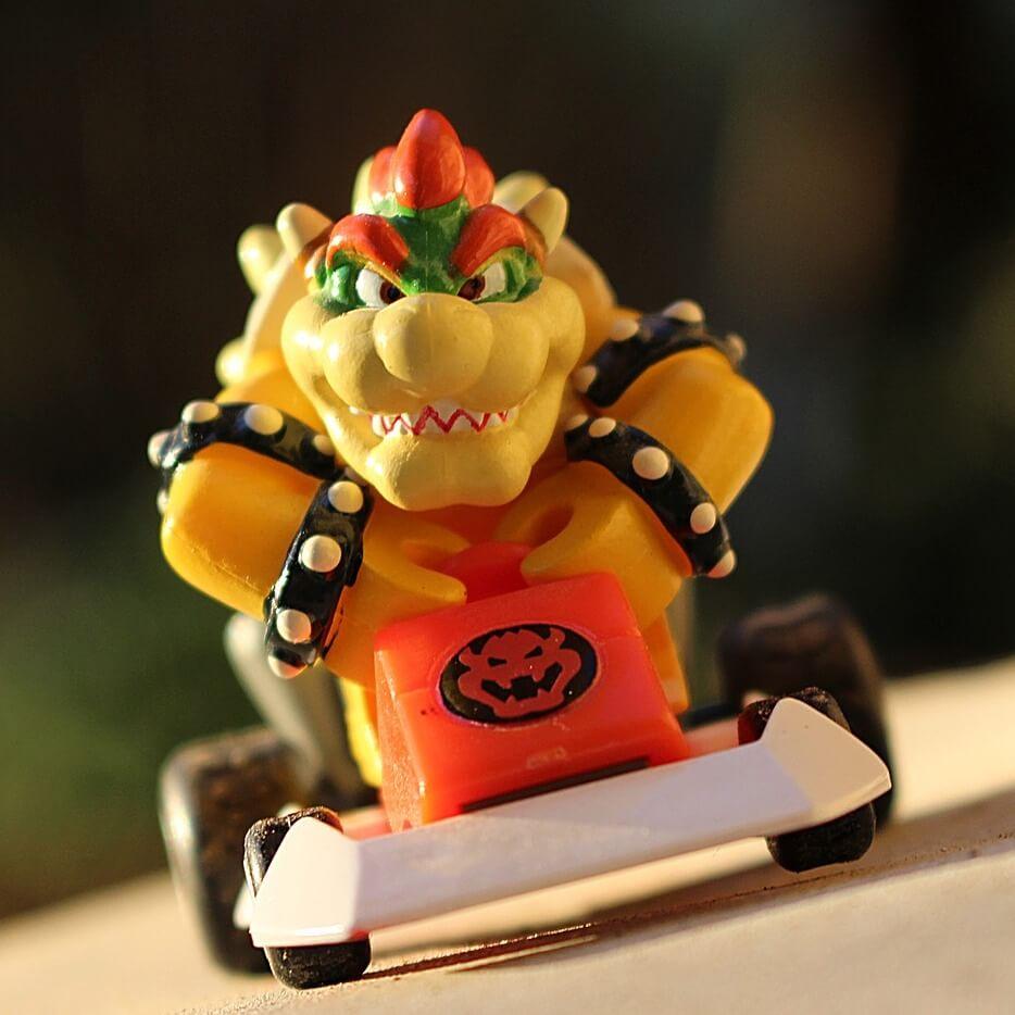 Bowser Kart figure