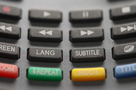 close-up of the buttons of a remote control