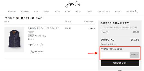 joules promo code how to redeem
