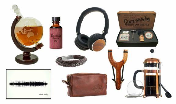 gifts for guys whisky beard oil headphones poker coffee