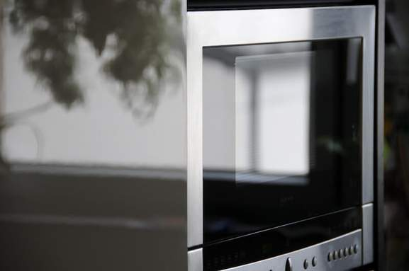 close-up of a microwave
