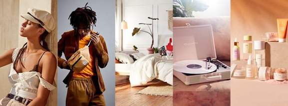 urban outfitters banner with stylish products for men, women and the home
