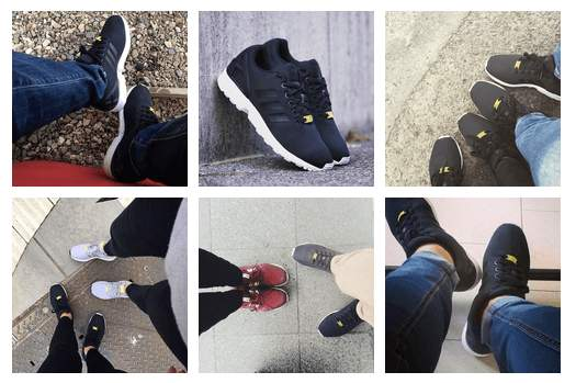 adidas zx flux footwear worn in different areas