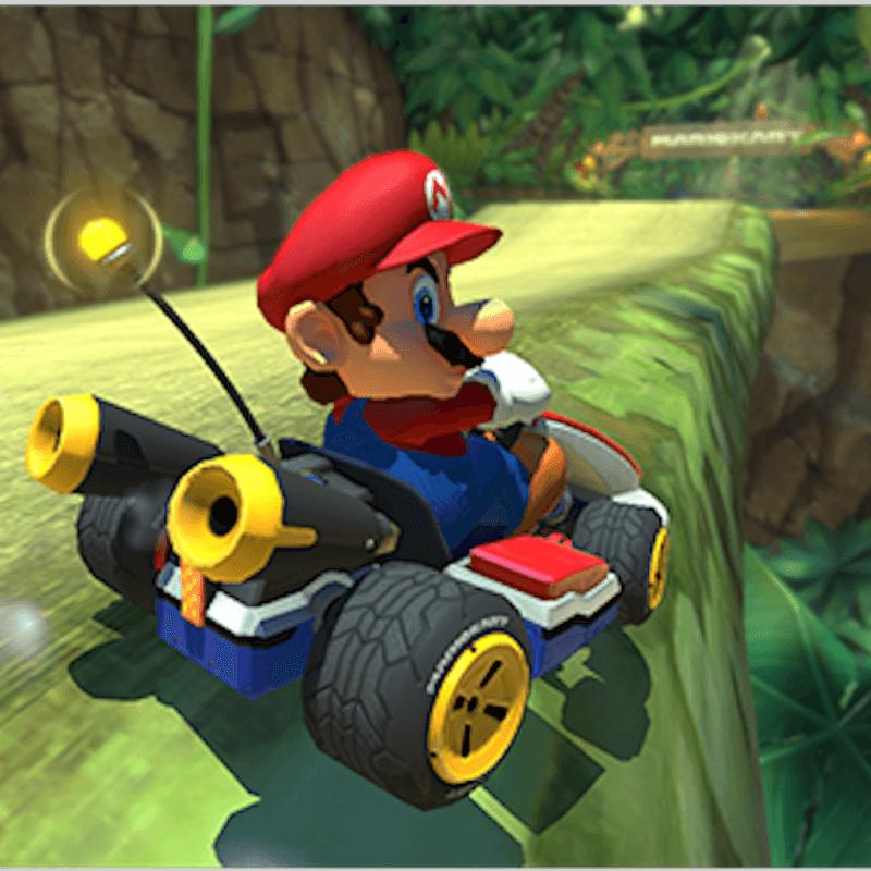 Mario in Kart on Mario Kart 8 Deluxe