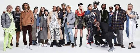 ots of people posing with clothes from asos