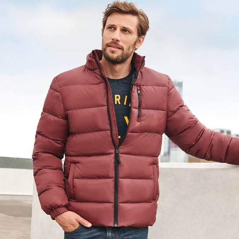 Man wearing F&F red jacket