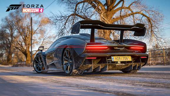 Forza Horizon 4 Mclaren Senna Rear in winter