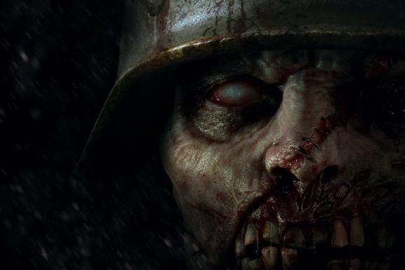 nazi zombie wearing a helmet
