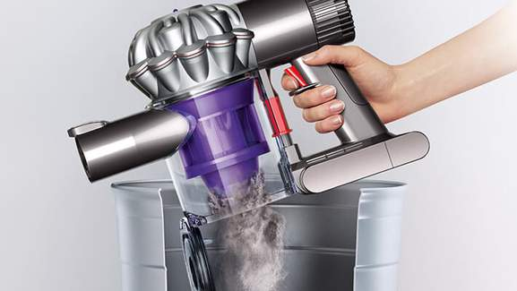 dyson v6 emptying of the bin