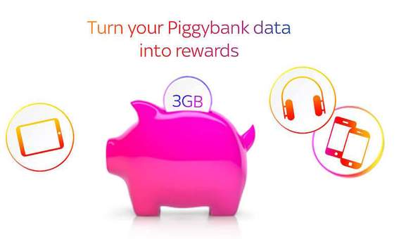 turn your piggybank data into rewards at sky