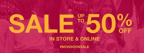 monsoon sale in store and online up to 50%