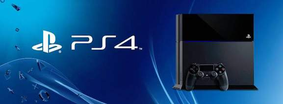 ps4 banner showing the console in front of a blue background